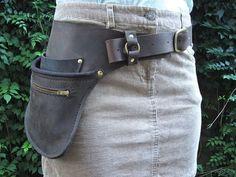 Leather Hip Belt by WheelerMunroe on Etsy, $145.00