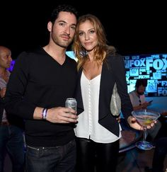 Tom Ellis and Tricia Helfer at ComicCon
