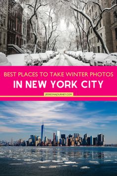 NYC winter photography is a reason to visit in itself. Here are the best places to take pictures in New York when it snows - photo inspiration included! New York Winter, Nyc Winter, Winter Travel, New York Travel Guide, New York City Travel, Travel Tips, Travel Guides, Travel Destinations, Travel Advise