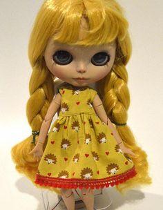 Blythe doll hedgehog dress Blythe clothing with hedgehogs