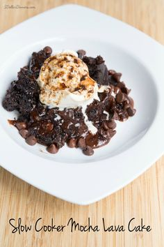Perfect for National Chocolate Cake Day: Slow Cooker Mocha Lava Cake Recipe | 5DollarDinners.com