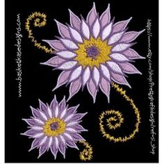 FLORAL WHIMS 8 Original Artwork, Embroidery Designs, Brooch, Floral, Brooches, Flowers, Flower