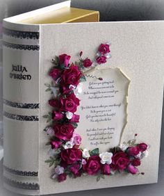 Altered Book Memory Box, In Memory, flowers