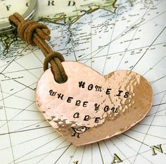 'home is where you are' handmade keyring by the english shipmate | notonthehighstreet.com