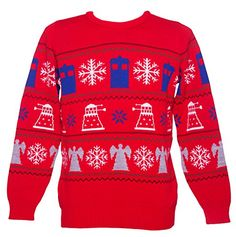 EXTERMINATE boring jumpers and replace them with this uber cheesy (yet very cool) Doctor Who Christmas Jumper! In a retro-style fair isle knit design this toasty number is the perfect way to see you through the Winter chill!