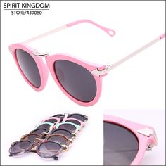 Vintage 2014 New Sunglasses Women Round Shades With Metal Stripe Sun glasses Pilot Oculos De Sol Free Shipping