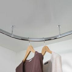 Buy Wardrobe Rail Corner Set with Fittings, 30 x 15 mm, 825 x 825 mm length Wardrobe Rail, Wardrobe Systems, Walk In Wardrobe, Wardrobe Ideas, Corner Closet, Corner Wardrobe, Bedroom Setup, Wardrobe Design Bedroom, Bedroom Ideas