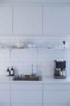white. kitchen.