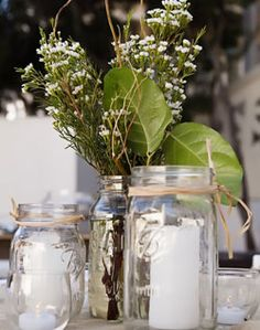 this is cute and you could add nice smelling plants to it that could give an indoor party an outside smell and feel
