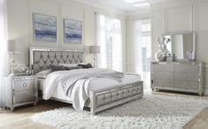 Global Furniture Riley-qb Tufted Bed, Queen, Silver on Home Inteior Ideas 501 Lit Queen Size, King Bedroom Sets, Master Bedroom, Master Suite, Bedroom Wardrobe, Grey Bedroom Set, Bedroom Neutral, Bedroom Suites, Bedroom Romantic