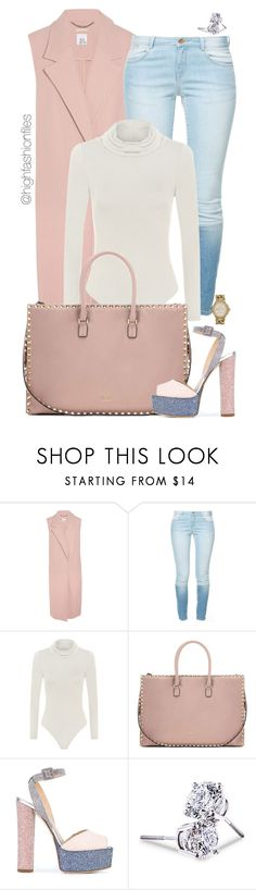 """""""Untitled #2671"""" by highfashionfiles ❤ liked on Polyvore featuring Iris & Ink, Zara, WearAll, Valentino, Giuseppe Zanotti, Lord & Taylor and MICHAEL Michael Kors"""