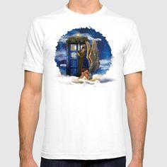 10th Doctor Who with Crying AngeL T-SHIRT #tshirt #tee #clothing #artdesign #digitalart #doctorwho #christmas #christmasgift #davidtennant #10thdoctor #tardisdoctorwho #tardis #vangogh #starrynight #mashup #thedoctor #whovian #autumnfall #nerd #geek #funny #cool #nerdy #geeky #timevortex #timelord #badwolf #nerds