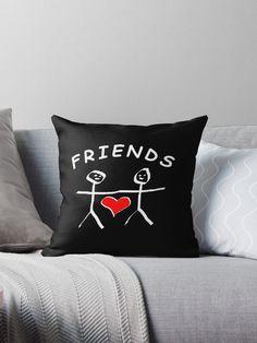 Friend Friendship, Designer Throw Pillows, Pillow Design, Best Friends, Vibrant, Prints, Beat Friends, Bestfriends