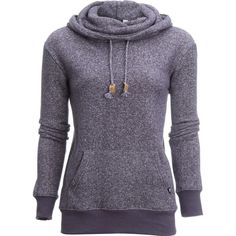 Tentree Banshee Pullover Cowl Neck Hoodie ($60) ❤ liked on Polyvore featuring tops, hoodies, sweater pullover, purple pullover hoodie, pullover hoodie, pullover hoodies and purple hoodies