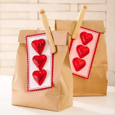 We're loving these adorable Valentine's Day Treat Bags. More #gift ideas: http://www.bhg.com/holidays/valentines-day/cards/make-your-own-valentines-day-gifts/