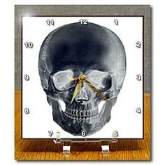 Amazon.com: Skull in Negative - 6x6 Desk Clock: Furniture & Decor