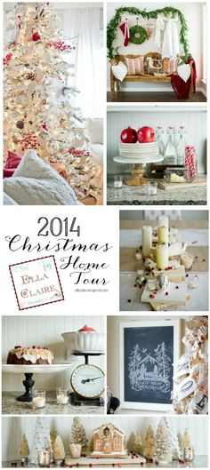 Christmas Home Tour by Ella Claire. So many fun and creative holiday touches!: