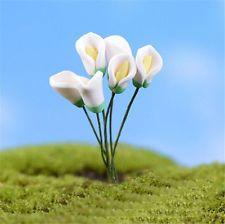 2x Mini Artificial Calla Flower Fairy DIY Landscape Garden Figurine Bonsai Decor