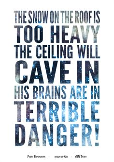 Firefly/Serenity Quote Poster Design: His Brains Are In Terrible Danger (River) Design by Nyx