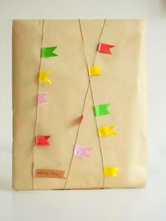 willowday: Gift Wrap Series #21: Garland Wrap and Card