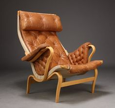 Bruno Mathsson's Pernilla Chair, by Dux, design classic lounge chair on Etsy, $1,676.06