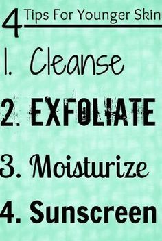 Always keep in mind your skin care!