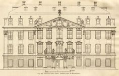 Elevation of the Palais Rutowsky, Dresden
