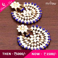 Kundan embellished earrings.Shop Now- http://bit.ly/1NyUhbn  #Salaam-e-Eid