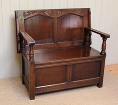 1920s Oak Monks Bench - Antiques Atlas