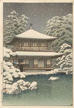 Kawase Hasui, Snow at Ginkakuji Temple