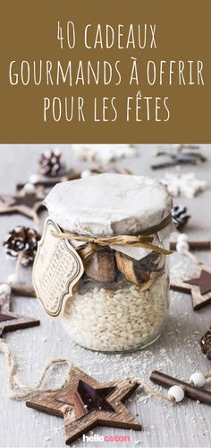 DIY: 40 ideas to offer gourmet gifts for the holidays! Pretty gift ideas to make home! Christmas Candy, Simple Christmas, Handmade Christmas, Christmas Holidays, Christmas Gifts, Christmas Tables, Modern Christmas, Scandinavian Christmas, Reindeer Christmas