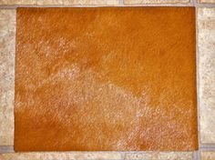 "Hair On Leather 8""x10"" Flawed HAZELNUT / Burnt Sienna / Tobacco reddish brown HOH #17 / 1 Cowhide PeggySueAlso?"