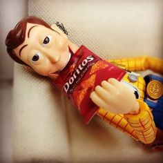 Even Woody loves Doritos!! (Woody by Santlov)