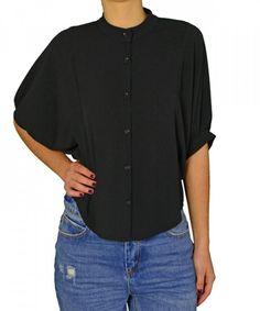 Γυναικείο ασσύμετρο κοντό πουκάμισο Lipsy μαύρο 2170503R #γυναικείαπουκάμισα #ρούχα #στυλάτα #fashion #μόδα #γυναίκες #βραδυνά #μεταξωτά