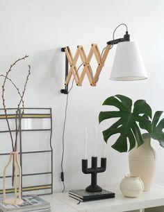 Scandinavische leeslamp wandlamp hout