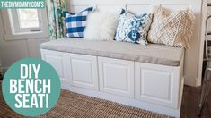 IKEA Hack | How to Build a Bench from Kitchen Cabinets | The DIY Mommy - YouTube Diy Bench Seat, Storage Bench Seating, Banquette Seating, Seating Plans, Ikea Hack Bench, Corner Banquette, Ikea Kitchen Cabinets, Kitchen Nook, Diy Cabinets