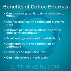 Do you know what a coffee enema is? Have you tried it? Caffeine and other beneficial compounds found specifically in coffee can stimulate the liver to produce its own master antioxidant called glutathione S-transferase (GST) which will then allow the liver to detoxify itself. We ALL need our liver to work better for better health,  more energy, and balanced hormones.  Head over to freeguthealthwebinar.com to watch my webinar where I tell you soooo much more about all of this fascinating…