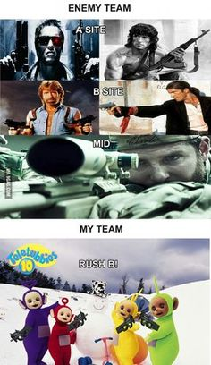 My team in any multiplayer game Gamer Humor, Funny Gaming Memes, Computer Memes, Video Game Memes, Video Games Funny, Funny Games, Team Rush, Cs Go Funny, Cs Go Memes