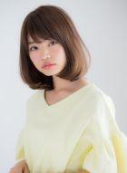 内巻きワンカールミディアムスタイル(髪型ミディアム)