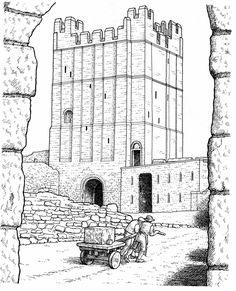 Coloring pages for a bunch of real castles
