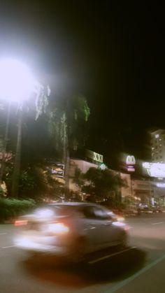 Semarang, Instagram Story Ideas, Random Things, Northern Lights, Country Roads, Street View, Night, City, Sweet