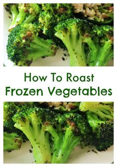 Try roasting your Fresh Frozen Foods vegetables for a unique flavor!
