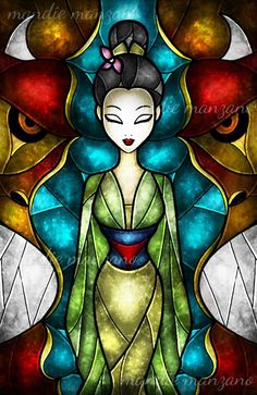Mulan 2 stained glass