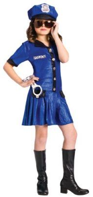 Fun World Girls Police Officer Cute Kids Cop Halloween Costume S - - This little police officer won't hesitate to lock you up if you're being bad! The cute police costume includes a shimmering blue dress made Police Halloween Costumes, Cute Costumes, Creative Halloween Costumes, Halloween Outfits, Girl Costumes, Costumes For Women, Costume Ideas, Children Costumes, Cop Costume For Kids