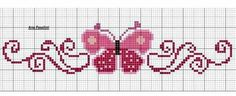 Resultado de imagen para embroidered cushions for children Butterfly Cross Stitch, Cross Stitch Heart, Cross Stitch Borders, Cross Stitch Designs, Cross Stitching, Cross Stitch Embroidery, Cross Stitch Patterns, Cross Stitch Bookmarks, Hand Embroidery Patterns