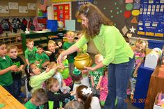 Preschool was visited by Leprechauns this morning! They left their classrooms a mess!!