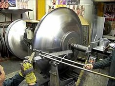 How to Spin a Cowl Spinning Spot Welder, Recycling Machines, Sheet Metal Fabrication, Metal Workshop, Metal Forming, Thing 1, Lathe, Wood Turning, Spinning