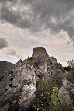 Legends of the Holy Grail surround Chateau Montsegur in the Ariege, France
