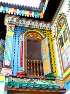 The most colourful house in Little India, Singapore
