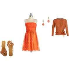 """Warm Spring - orange"" by adriana-cizikova on Polyvore"